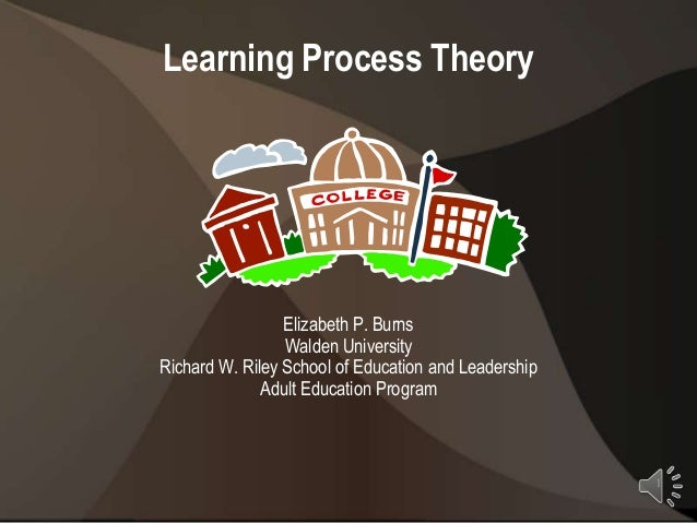 Learning Process Theory                 Elizabeth P. Burns                 Walden UniversityRichard W. Riley School of Edu...