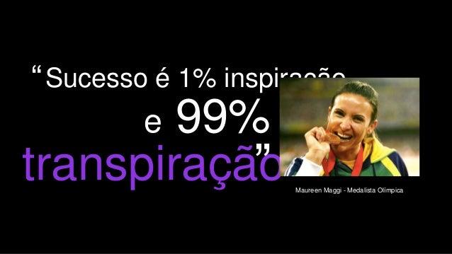 """4 Sucesso é 1% inspiração e 99% transpiração Maureen Maggi - Medalista Olímpica """""""