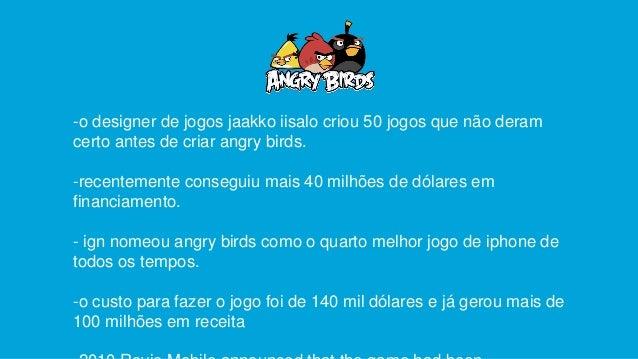 -o designer de jogos jaakko iisalo criou 50 jogos que não deram certo antes de criar angry birds. -recentemente conseguiu ...