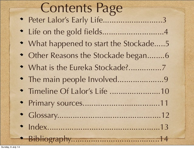 EUREKA STOCKADE TIMELINE EBOOK