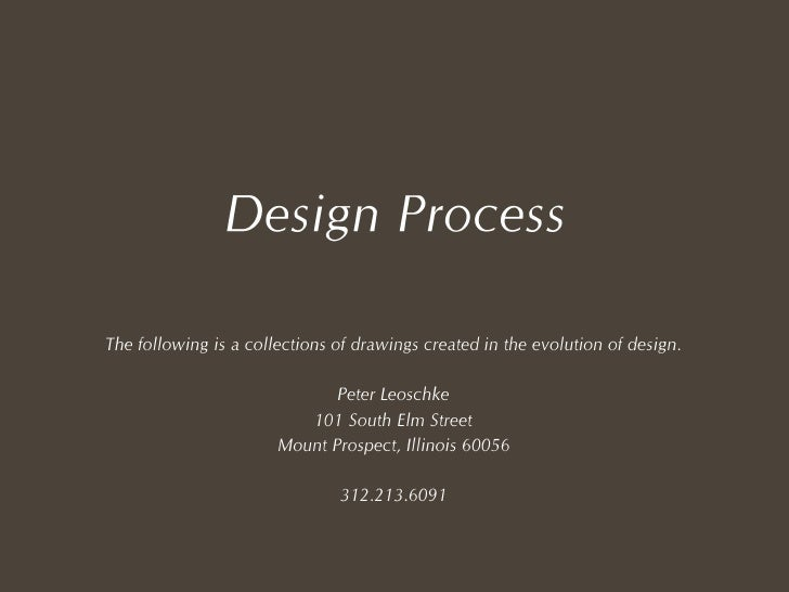 Peter Leoschke - Design Process