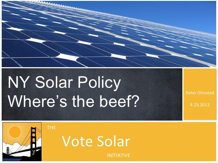 Peter Olmsted - New York Solar Policy - Community Solar Confluence