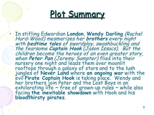 Peter pan book short summary