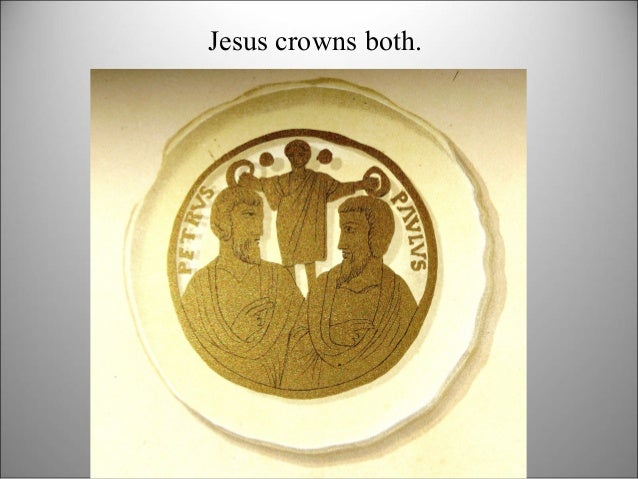 Jesus crowns both.