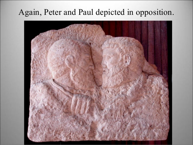 Again, Peter and Paul depicted in opposition.