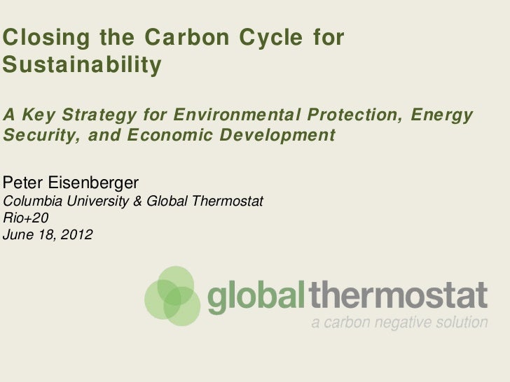 Closing the Carbon Cycle forSustainabilityA Key Strategy for Environmental Protection, EnergySecurity, and Economic Develo...