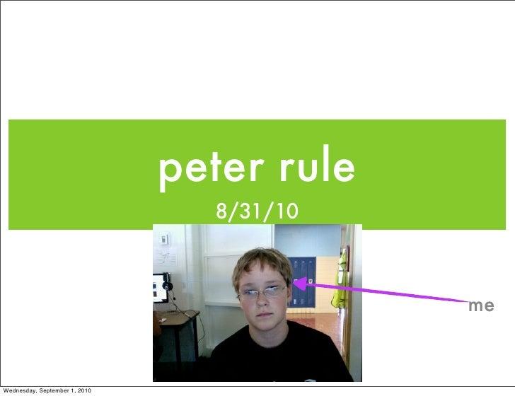 Peter rule