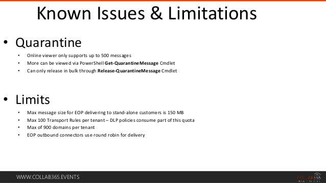 Exchange Online Transport Rule Limits
