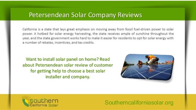 Petersen Dean Company Reviews Make It A Home With Solar
