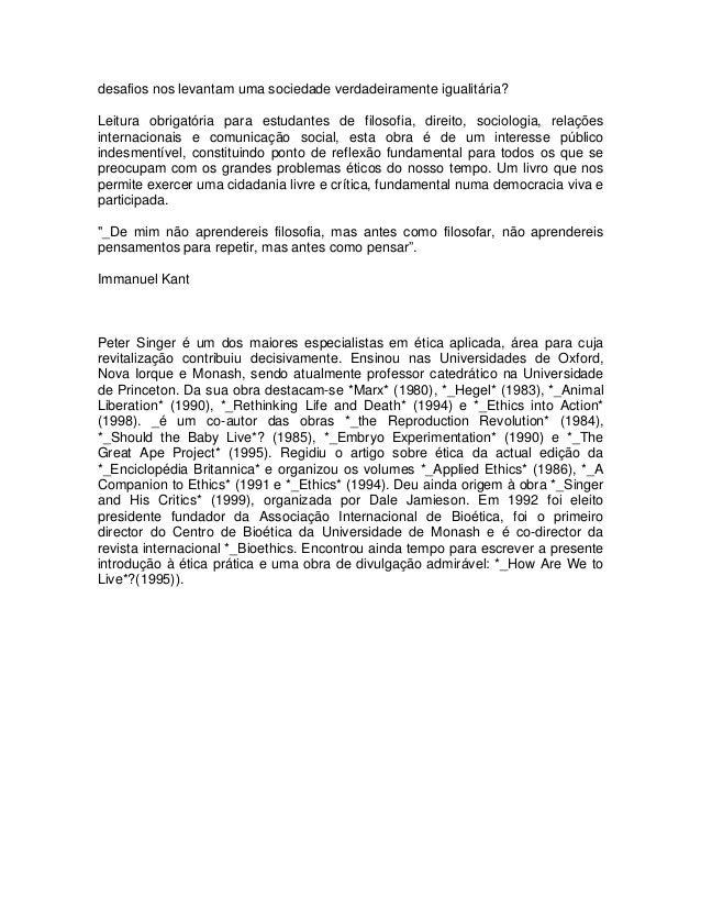 Etica Pratica Peter Singer Pdf