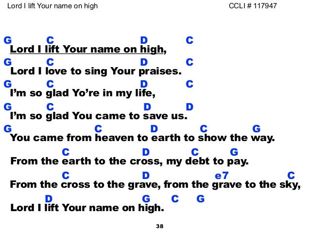 Lord I Lift Your Name On High Guitar Chords