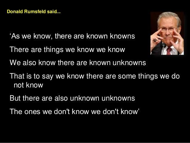 Donald rumsfeld known unknowns pdf