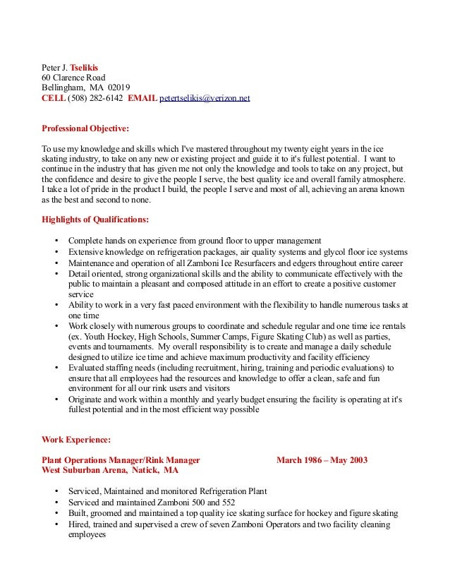 Awesome Ice Rink Manager Resume Images - Best Resume Examples by ...