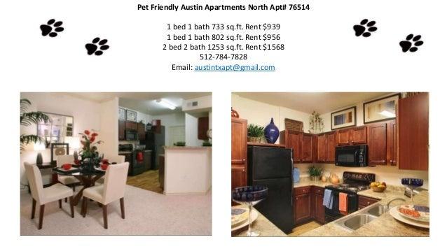 Apartment friendly pet rent