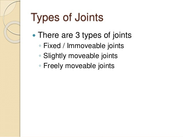 5.4 different kinds of joints