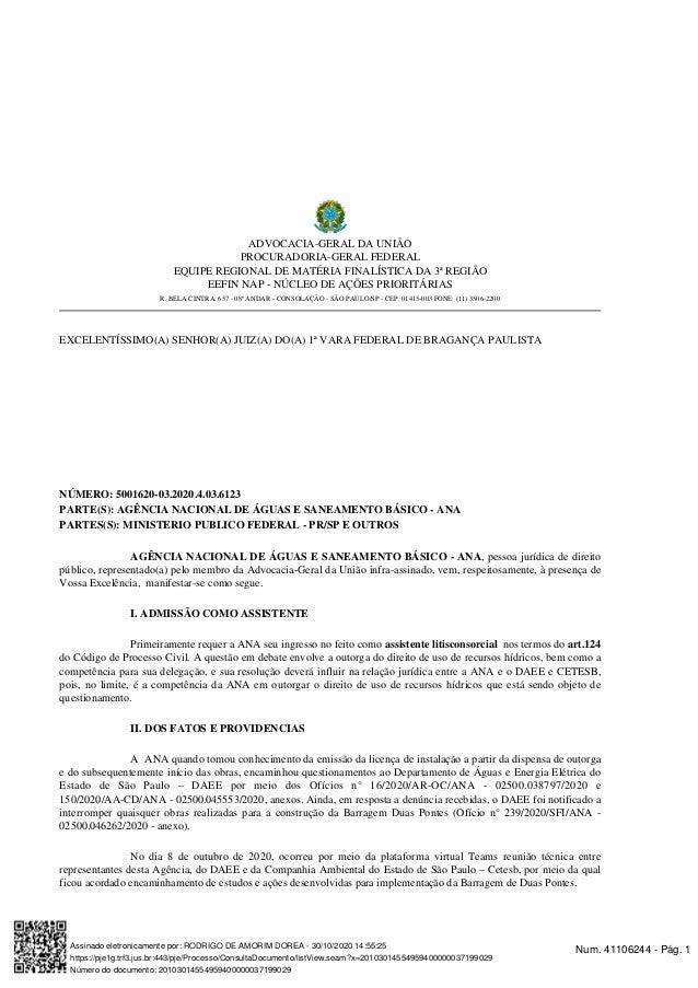 Barragem Pedreira/Peticao ANA-ACP Slide 2