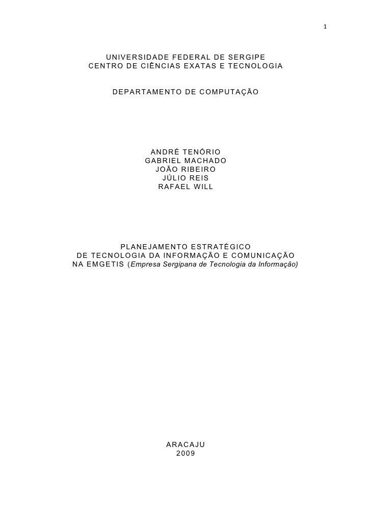 1           UNIVERSIDADE FEDERAL DE SERGIPE     CENTRO DE CIÊNCIAS EXATAS E TECNOLOGIA             DEPARTAMENTO DE COMPUTA...