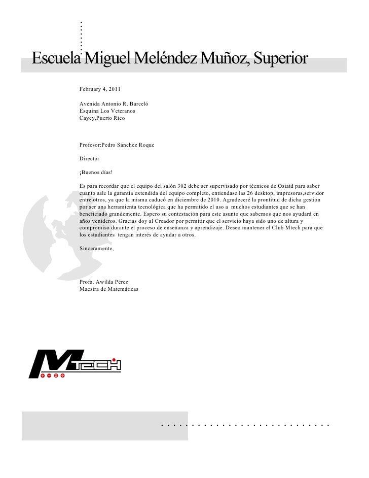 .      .      .      .      .      .      .      .      .Escuela Miguel Meléndez Muñoz, Superior      February 4, 2011    ...