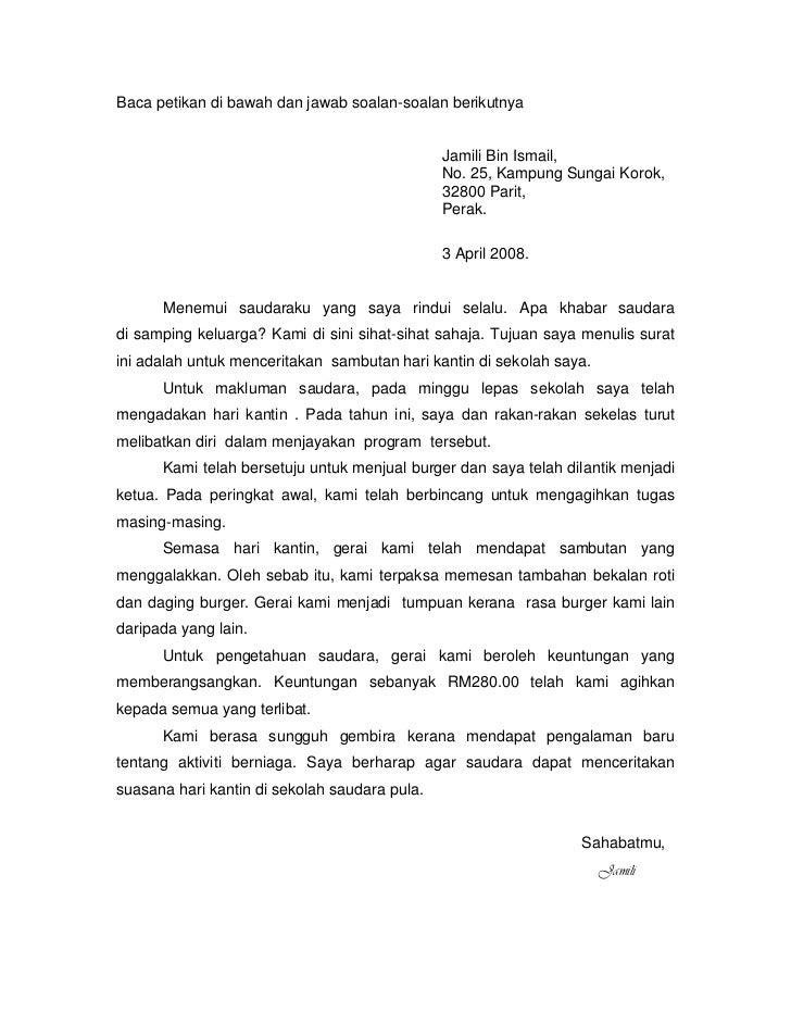 Contoh Surat Rasmi Dalam Bahasa Inggeris Spm  Www