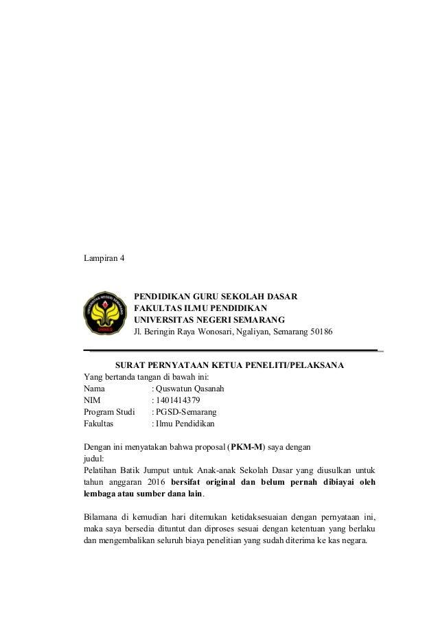 Demikian pernyataan ini dibuat dengan sesungguhnya dan dengan sebenar- benarnya. Semarang, 04 Juni 2015 Mengetahui, Yang m...