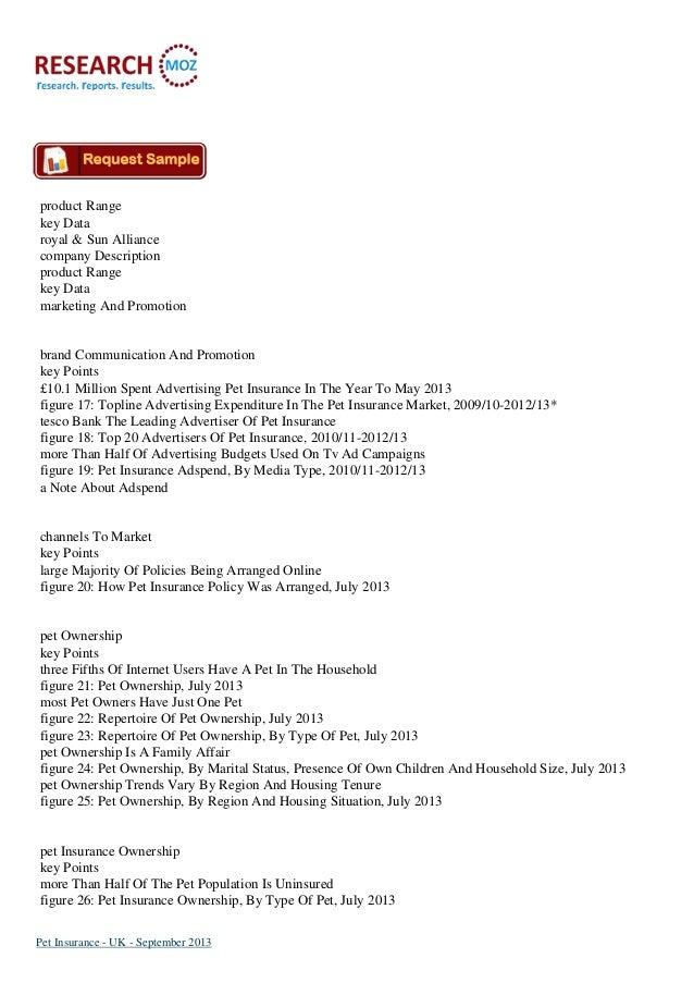 Pet Insurance - UK - September 2013:Industry Trends, Size ...