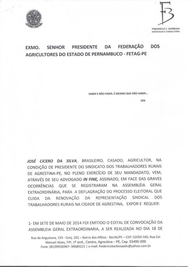 Petição FETAG-PE