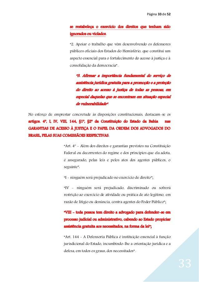 """Página 33 de 52 33 se restabeleça o exercício dos direitos que tenham sido ignorados ou violados. """"2. Apoiar o trabalho qu..."""