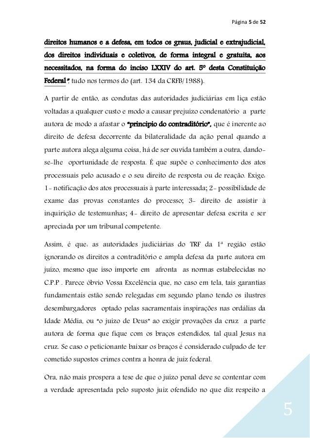 Página 5 de 52 5 direitos humanos e a defesa, em todos os graus, judicial e extrajudicial, dos direitos individuais e cole...