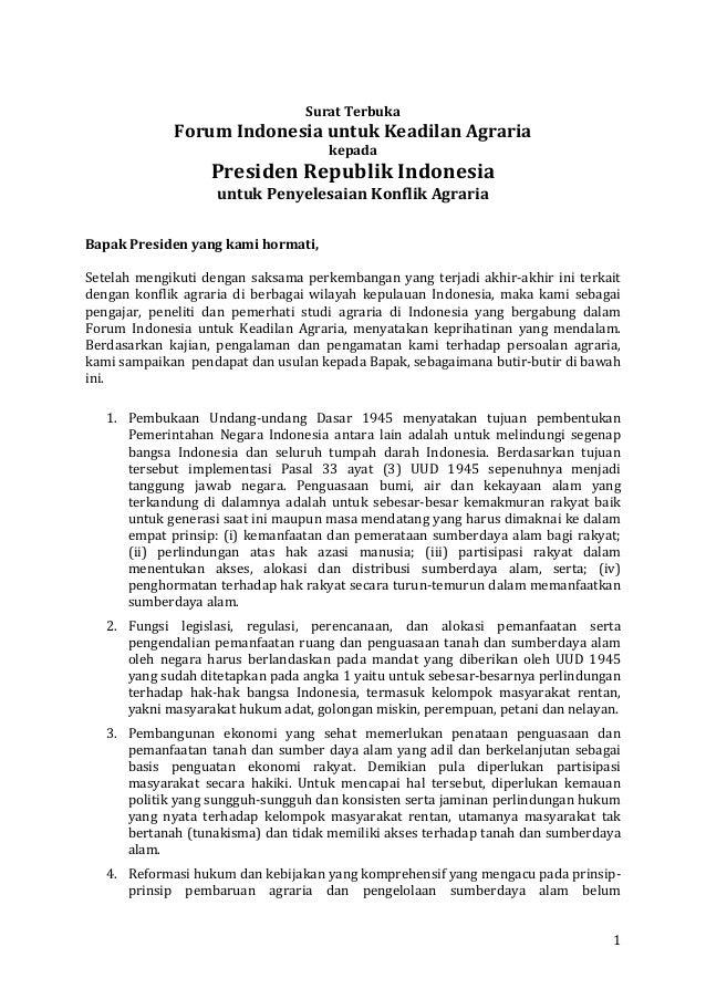 Surat Terbuka                        Forum Indonesia un...