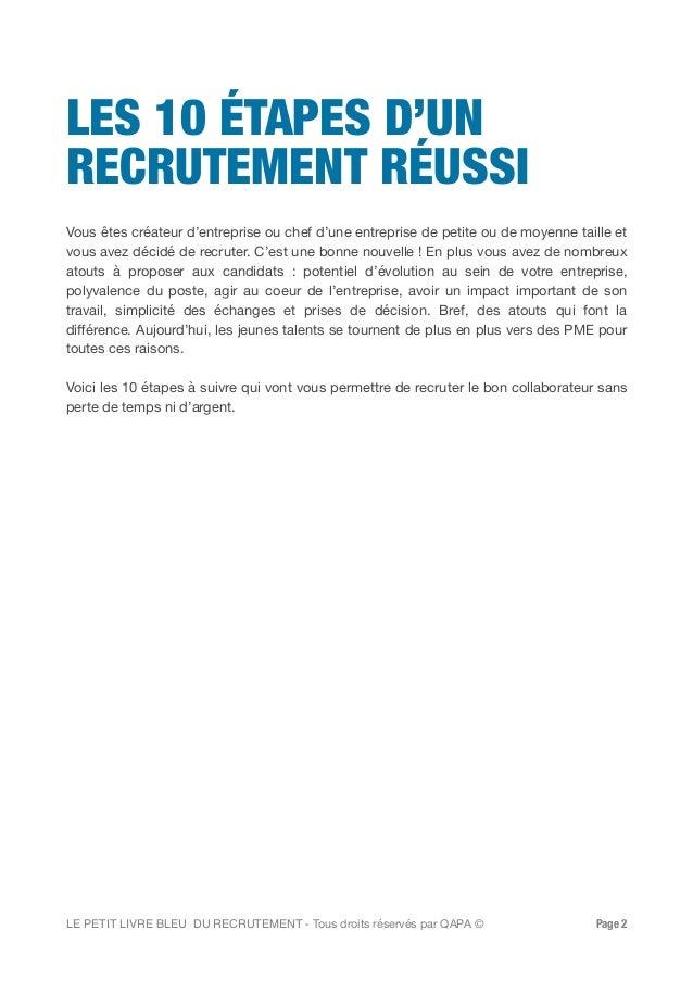 Petit livre bleu du recrutement par Qapa.fr Slide 2