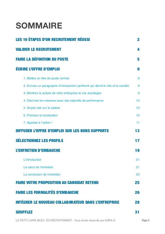Petit livre bleu du recrutement par Qapa.fr Slide 3