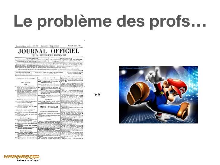 Le problème des profs… vs