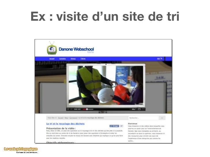Ex : visite d'un site de tri