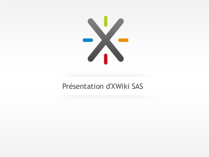 Présentation dXWiki SAS
