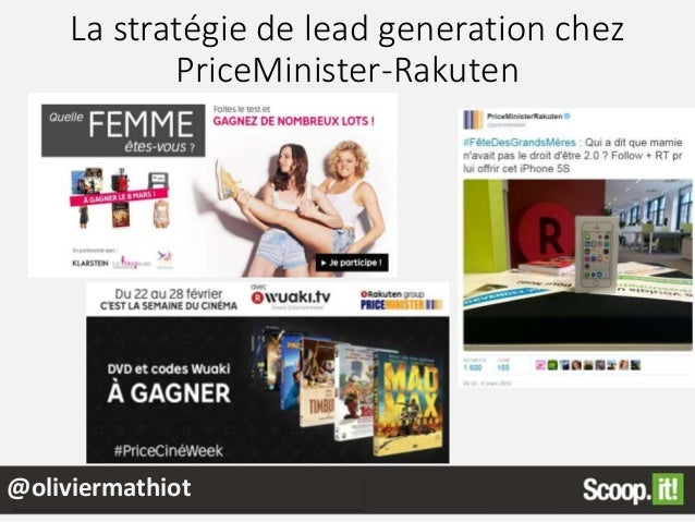 La stratégie de lead generation chez PriceMinister-Rakuten @oliviermathiot