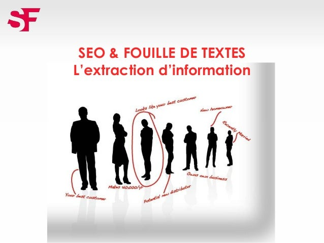 SEO & FOUILLE DE TEXTES L'extraction d'information