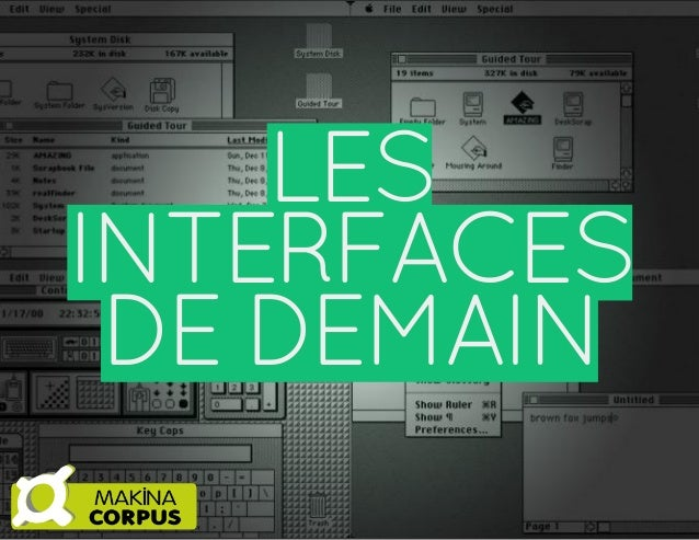 LES INTERFACES DE DEMAIN