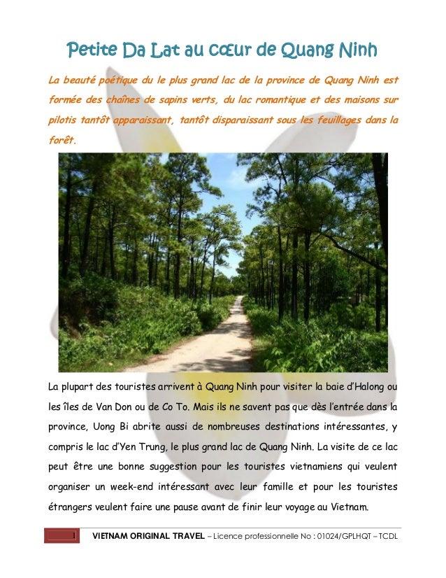 Petite Da Lat au cœur de Quang Ninh La beauté poétique du le plus grand lac de la province de Quang Ninh est formée des ch...