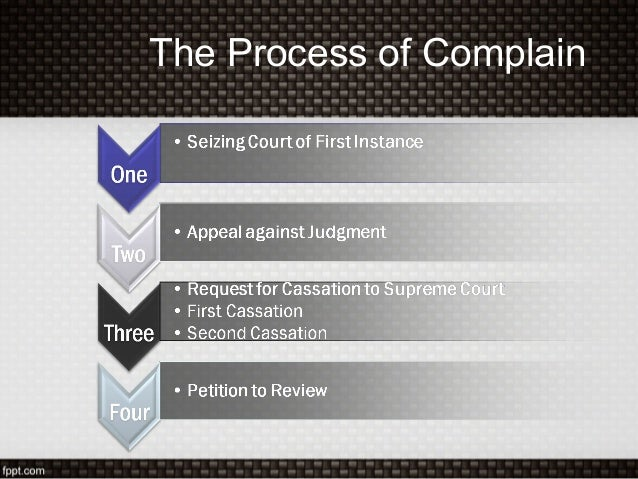 The Process of Complain