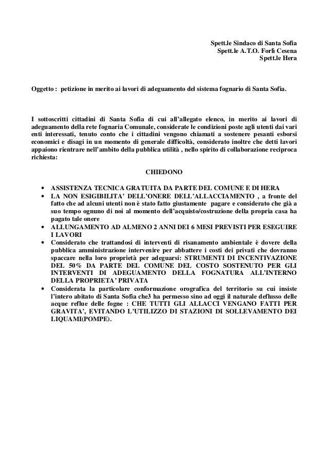 Spett.le Sindaco di Santa Sofia                                                                   Spett.le A.T.O. Forlì Ce...