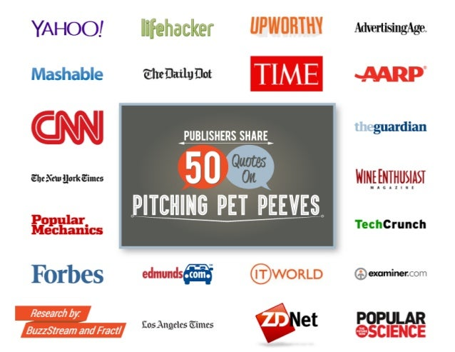 Publishers Share 50 Quotes on Pitching Pet Peeves