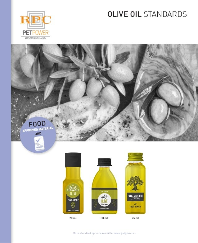 olive oil standards 25 ml30 ml20 ml food approved material and