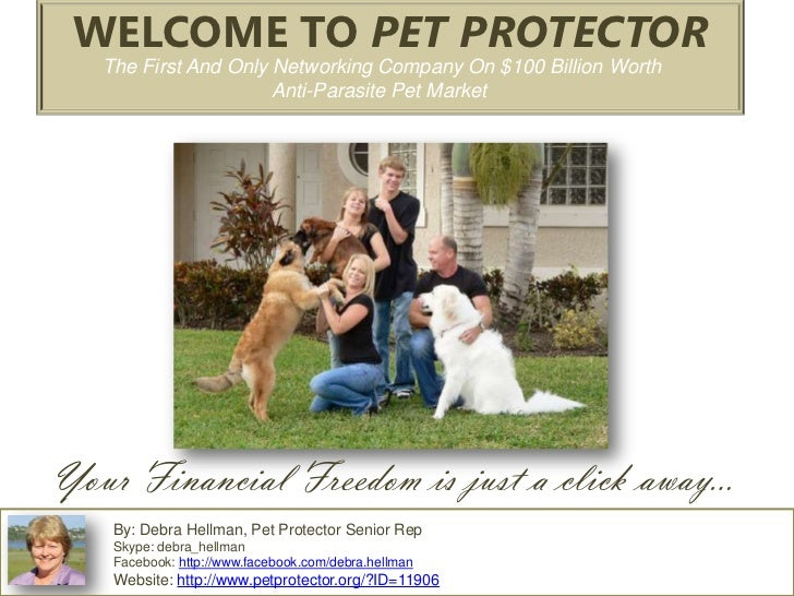 WELCOME TO PET PROTECTOR   The First And Only Networking Company On $100 Billion Worth                      Anti-Parasite ...