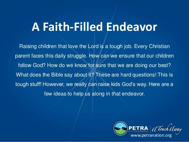 Raising children that love the Lord is a tough job. Every Christian parent faces this daily struggle. How can we ensure th...
