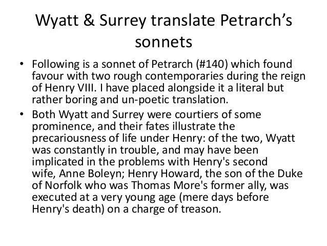 wyatt and surrey sparknotes