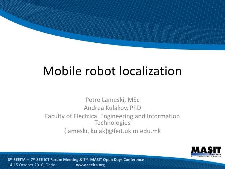 Mobile robot localization