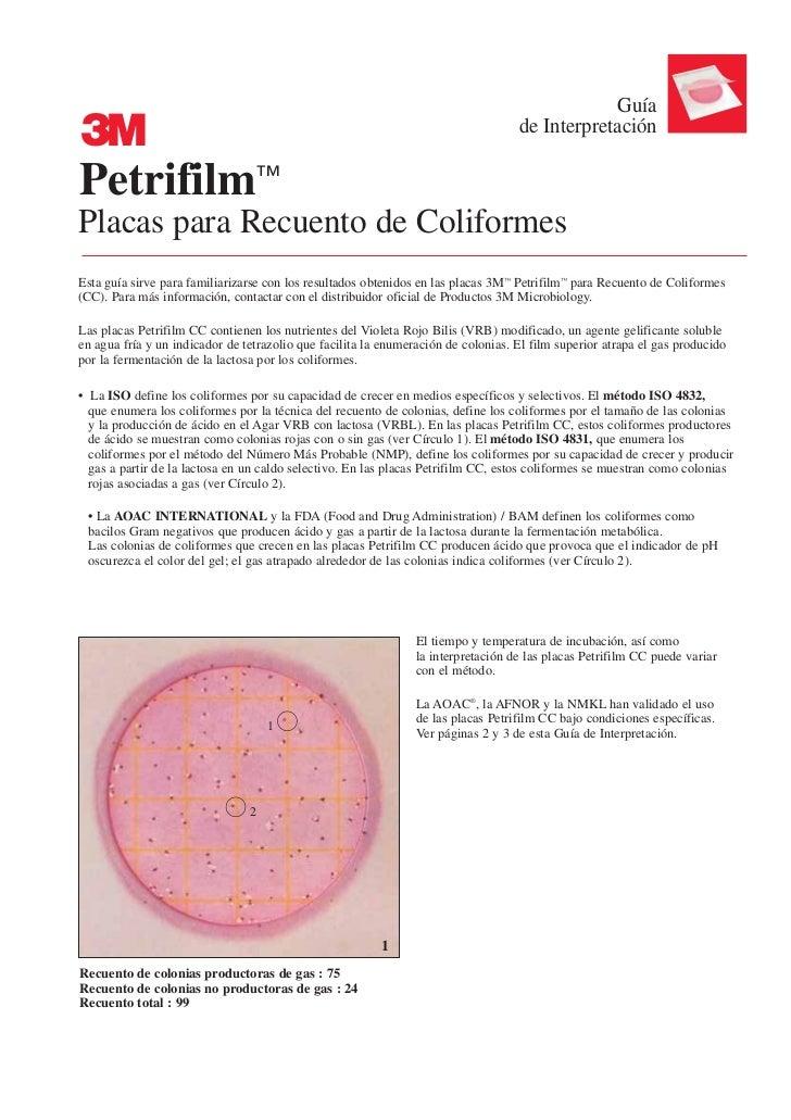 Guía3                                                                                  de InterpretaciónPetrifilm™Placas p...