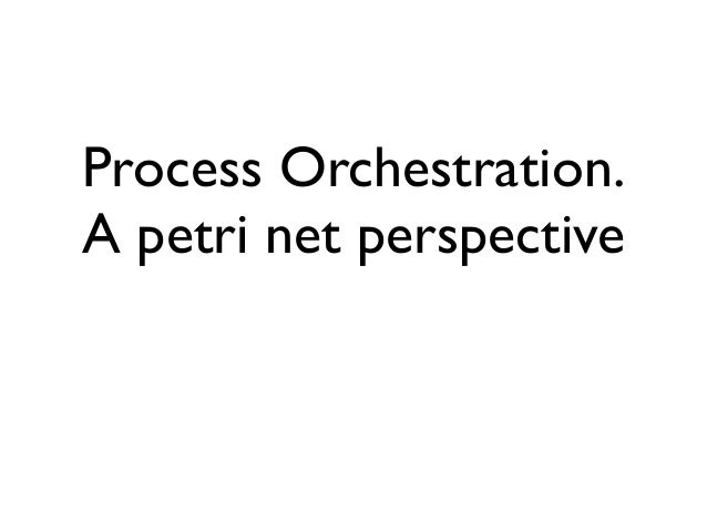 Process Orchestration. A petri net perspective