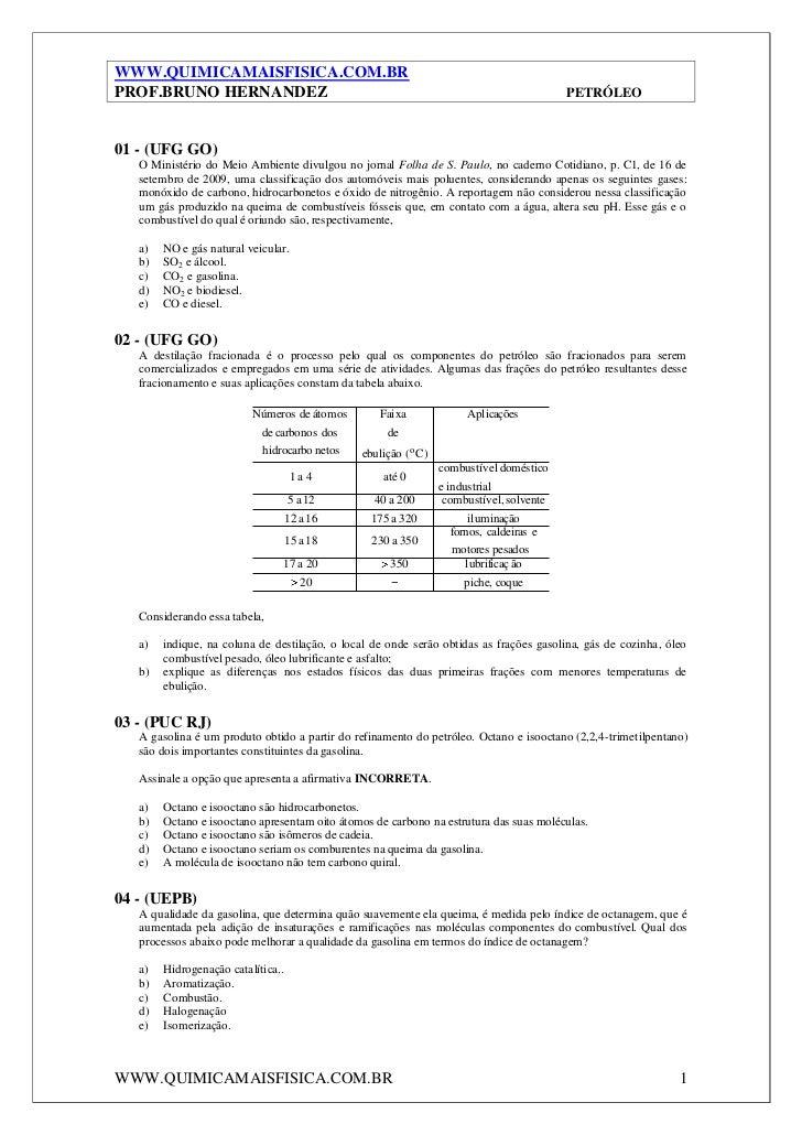 WWW.QUIMICAMAISFISICA.COM.BRPROF.BRUNO HERNANDEZ                                                                     PETRÓ...