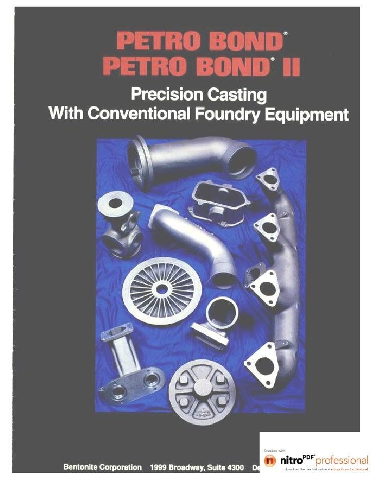The History of PETRO BOND                                                                    Bentonite Corporation recogni...
